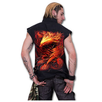 Camicia da uomo senza maniche SPIRAL - PHOENIX ARISEN - Nero, SPIRAL