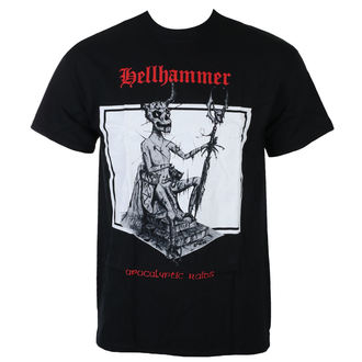 t-shirt metal uomo Hellhammer - RED LOGO APOCALYPTIC RAIDS - Just Say Rock, Just Say Rock, Hellhammer