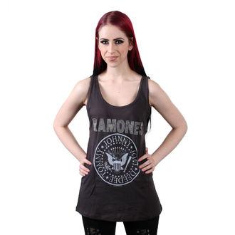 Canotta da donna  RAMONES - LOGO DIAMANTE SILVER - CARBONE - AMPLIFIED, AMPLIFIED, Ramones