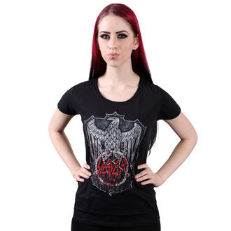 t-shirt metal donna Slayer - Bloody Shield - ROCK OFF, ROCK OFF, Slayer
