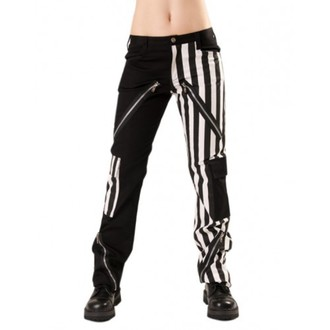 pantaloni uomo Nero Pistol - Mostro Pantaloni Stripe Nero/Bianco
