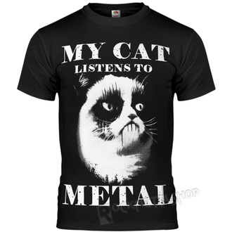 t-shirt hardcore uomo - MY CAT LISTENS TO METAL - AMENOMEN, AMENOMEN