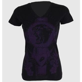 t-shirt street donna - Tiger Cross One color V-neck - SOMETHING SACRED - V-neck, SOMETHING SACRED