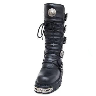 stivali in pelle - 5-Buckle Boots (402-S1) Black - NEW ROCK, NEW ROCK