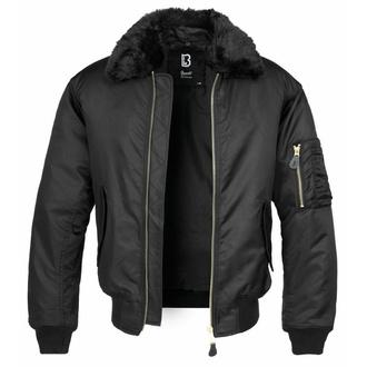 Giacca invernale da uomo modello bomber BRANDIT - MA2 Jacket Fur Collar - 3175-black