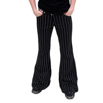 pantaloni donna Mode Wichtig - Flares Pin Stripe Nero-Bianco, MODE WICHTIG