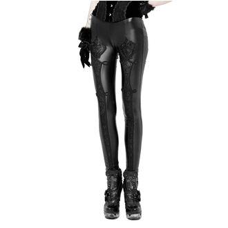pantaloni (leggings) PUNK RAVE - Black Soiree Gothic, PUNK RAVE