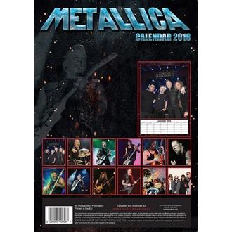 calendario a anno 2018 METALLICA, Metallica