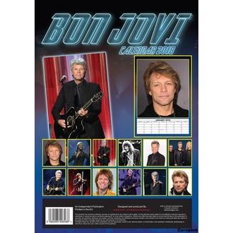 calendario a anno 2018 BON JOVI, Bon Jovi