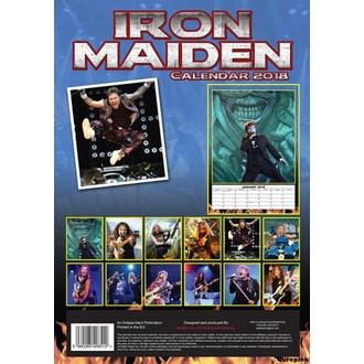 Calendario a anno 2018 IRON MAIDEN, Iron Maiden