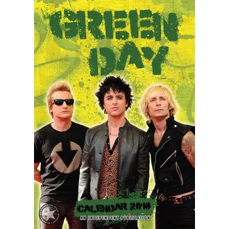 Calendario a anno 2018 GREEN DAY, NNM, Green Day