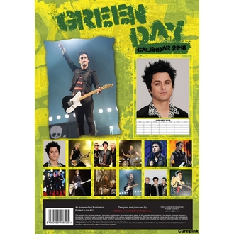 Calendario a anno 2018 GREEN DAY, Green Day