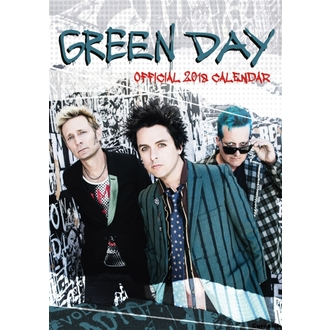 Parete calendario 2018 GREEN DAY, Green Day