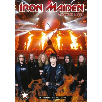 Calendario per anno 2019 - Iron Maiden, NNM, Iron Maiden