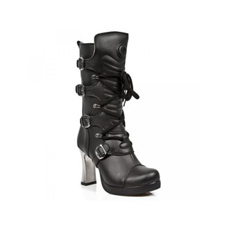 scarpe con il tacco donna - VEGAN NEGRO ** VEGAN **, PLATAFORMA - NEW ROCK