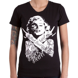 t-shirt street donna - BH SKULL BITCH - BLACK HEART, BLACK HEART