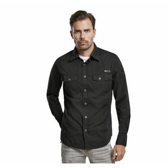 camicia uomo Brandit - Men Shirt Slim - Nero - 4005/2