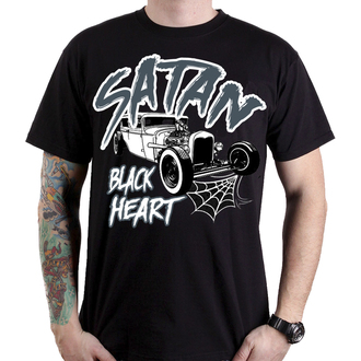 t-shirt street uomo - SATAN - BLACK HEART, BLACK HEART