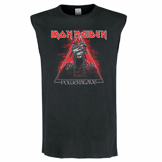 Canotta unisex IRON MAIDEN - RED POWERSLAVE - CARBONE - AMPLIFIED, AMPLIFIED, Iron Maiden