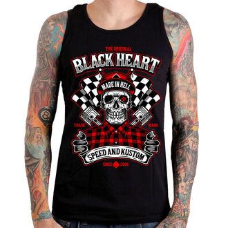 Top Uomo BLACK HEART - SPEED AND KUSTOM SKULL - NERO, BLACK HEART