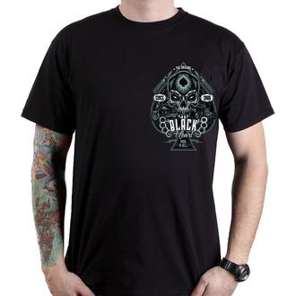 t-shirt street uomo - HOT ROD KNUCKLE - BLACK HEART, BLACK HEART
