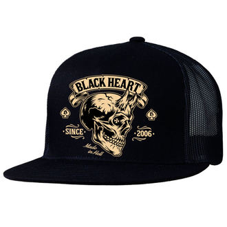 berretto BLACK HEART - DEVIL SKULL - NERO, BLACK HEART