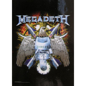 bandiera Megadeth - Eagle, HEART ROCK, Megadeth