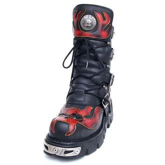 stivali in pelle - Vampire Boots (107-S1) Black-Orange - NEW ROCK, NEW ROCK