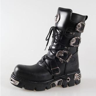 stivali in pelle - Metal Boots (391-S1) Black - NEW ROCK, NEW ROCK