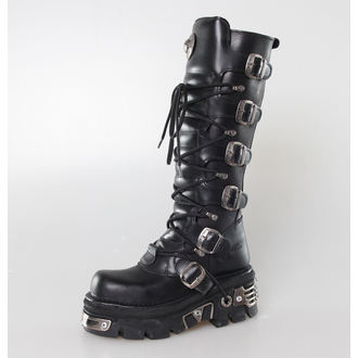 stivali in pelle - 6-Buckle Boots (272-S1) Black - NEW ROCK, NEW ROCK