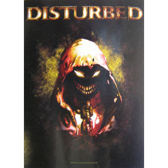 bandiera Disturbed - Carattere, HEART ROCK, Disturbed
