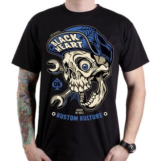 t-shirt street uomo - MECHANIC - BLACK HEART, BLACK HEART