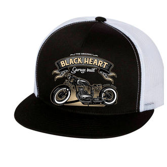 berretto BLACK HEART - JAWA 350 - BIANCA, BLACK HEART