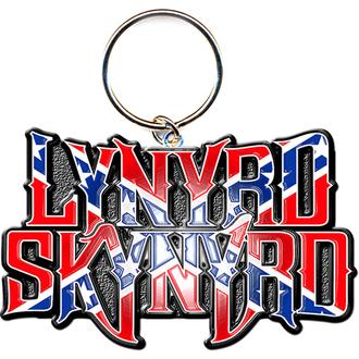 portachiave ad anello - pendente Lynyrd Skynyrd (Bandiera Logo) - ROCK OFF, ROCK OFF, Lynyrd Skynyrd