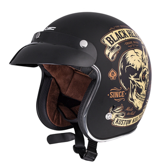 Casco BLACK HEART - DEVIL SKULL - NERO, BLACK HEART