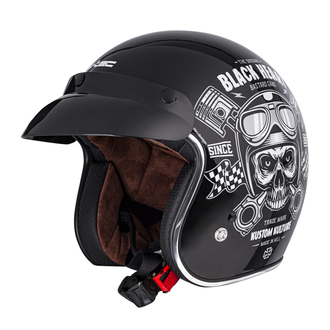 Casco BLACK HEART - PISTON SKULL - NERO, BLACK HEART