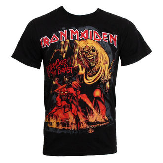 t-shirt metal Iron Maiden - The Number of the Beast - ROCK OFF - IMTEE12