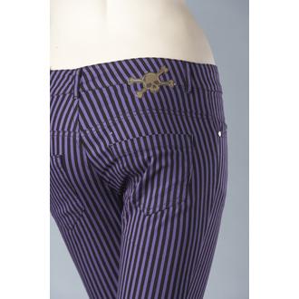pantaloni donna HELL BUNNY 'Kate Tubo di scarico ROSSO', HELL BUNNY