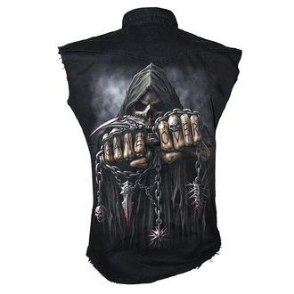 camicia uomo senza senza maniche SPIRAL 'Game Over' - Nero, SPIRAL