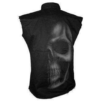 camicia uomo senza senza maniche SPIRAL - Shadow Skull - Grigio, SPIRAL