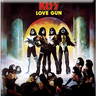 calamita Kiss - Love Gun Album Cover frigo Magnet - ROCK OFF, ROCK OFF, Kiss
