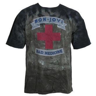 t-shirt metal uomo Bon Jovi - Bad Medicine - LIQUID BLUE, LIQUID BLUE, Bon Jovi