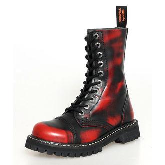 stivali in pelle - KMM - Red/Black-100
