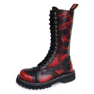 stivali in pelle - KMM - Red/Black-140/2