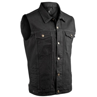 Gilet CAPRICORN ROCKWEAR - black without frays, CAPRICORN ROCKWEAR
