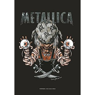 Bandiera Metallica - Pirate, HEART ROCK, Metallica