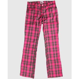 pantaloni Nero Pistol - Hipster Tartan Pink, BLACK PISTOL