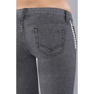 pantaloni donna VANS - Skinny Caviglia Denim - Charcoal, VANS