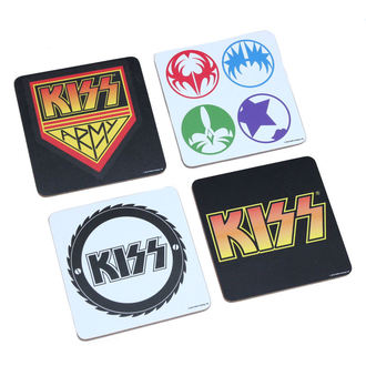beery coasters Kiss - Be Pezzo Coaster Set - ROCK OFF, ROCK OFF, Kiss