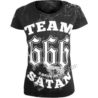 t-shirt hardcore donna - TEAM SATAN - AMENOMEN, AMENOMEN